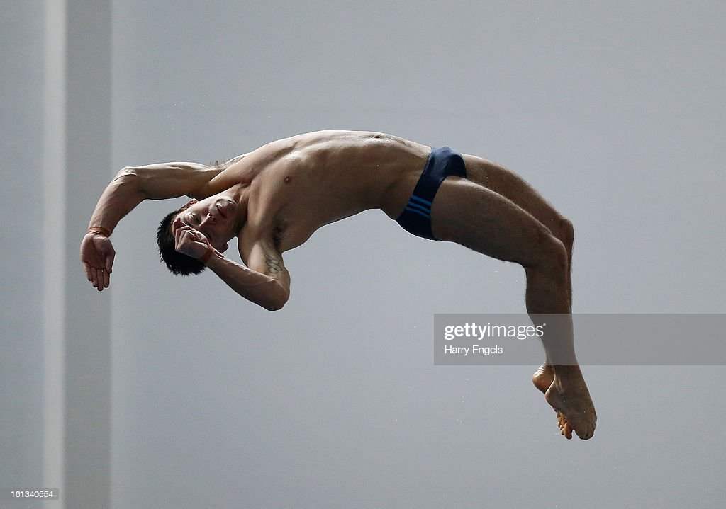 <a gi-track='captionPersonalityLinkClicked' href=/galleries/search?phrase=Tom+Daley+-+Diver&family=editorial&specificpeople=2652461 ng-click='$event.stopPropagation()'>Tom Daley</a> dives prior to the Men's 10m preliminary round on day three of the British Gas Diving Championships on February 10, 2013 in Plymouth, England.