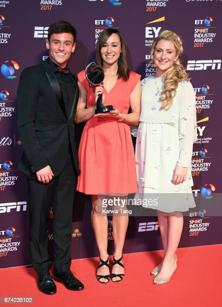 Tom Daley Jessica EnnisHill and Laura Kenny attend the BT Sport Industry Awards at Battersea Evolution on April 27 2017 in London England