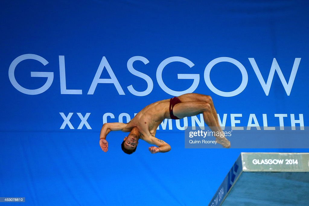 <a gi-track='captionPersonalityLinkClicked' href=/galleries/search?phrase=Tom+Daley+-+Diver&family=editorial&specificpeople=2652461 ng-click='$event.stopPropagation()'>Tom Daley</a> of England competes in the Men's 10m Platform Final at Royal Commonwealth Pool during day ten of the Glasgow 2014 Commonwealth Games on August 2, 2014 in Edinburgh, United Kingdom.