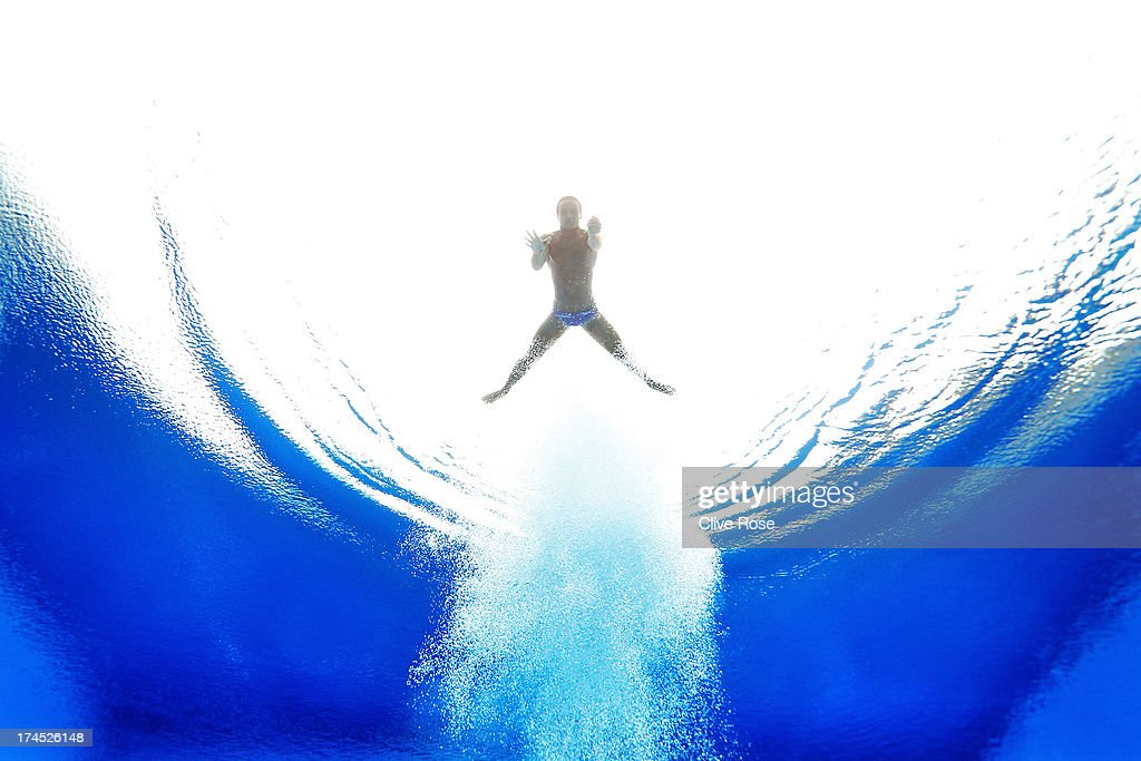 <a gi-track='captionPersonalityLinkClicked' href=/galleries/search?phrase=Tom+Daley+-+Diver&family=editorial&specificpeople=2652461 ng-click='$event.stopPropagation()'>Tom Daley</a> of Great Britain competes in the Men's 10m Platform Diving preliminary round on day eight of the 15th FINA World Championships at Piscina Municipal de Montjuic on July 27, 2013 in Barcelona, Spain.