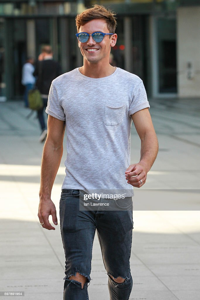 Tom Daley seen at BBC Radio One on August 30 2016 in London England