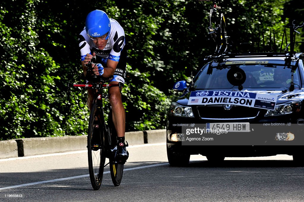 Tom Danielson of Team Garmin - Cervelo rides during Stage 20 of the Tour de France on July 23, 2011 in Grenoble, France.