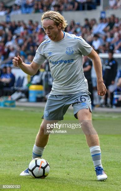 Tom Davies from Everton during the PreSeason Friendly between KRC Genk and Everton at Cristal Arena on July 22 2017 in Genk Belgium