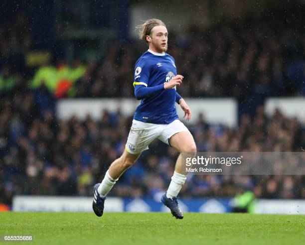 Tom Davies of Everton during the Premier League match between Everton and Hull City at Goodison Park on March 18 2017 in Liverpool England