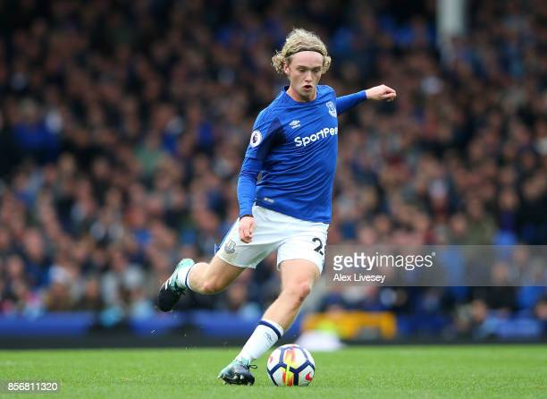 Tom Davies of Everton during the Premier League match between Everton and Burnley at Goodison Park on October 1 2017 in Liverpool England