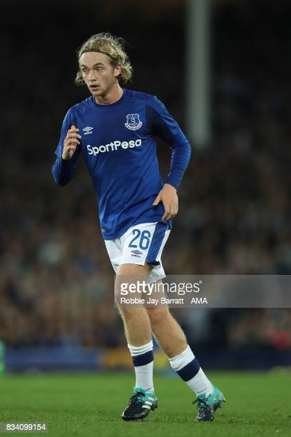Tom Davies of Everton during the UEFA Europa League Qualifying PlayOffs round first leg match between Everton FC and Hajduk Split at Goodison Park on...
