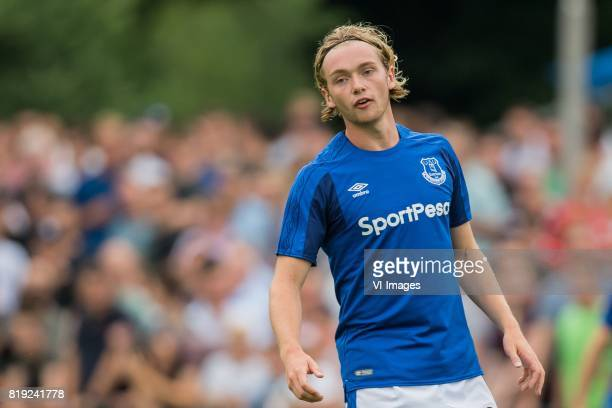 Tom Davies of Everton FC during the friendly match between FC Twente and Everton FC at sportpark De Stockakker on July 19 2017 in De Lutte The...