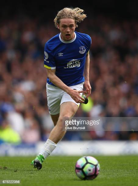 Tom Davies of Everton in action during the Premier League match between Everton and Chelsea at Goodison Park on April 30 2017 in Liverpool England