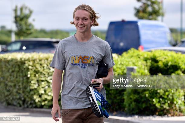 Tom Davies of Everton returns to training at USM Finch Farm on July 3 2017 in Halewood England