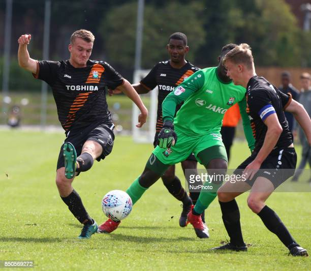 Tom Day of Barnet during Central League Cup match between Barnet Under 23s and Southend United Under 23s at Barnet Training Ground London England on...