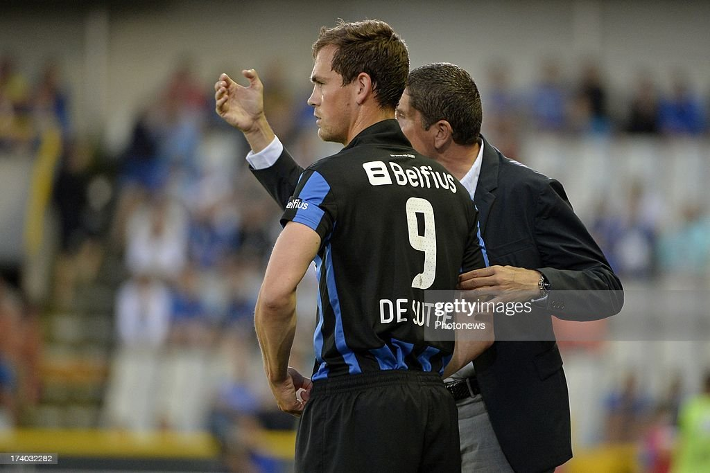 Tom De Sutter of Club Brugge K.V. participates in the friendly match between Club Brugge K.V. and Wolfsburg on July 19, 2013 in Bruges, Belgium.