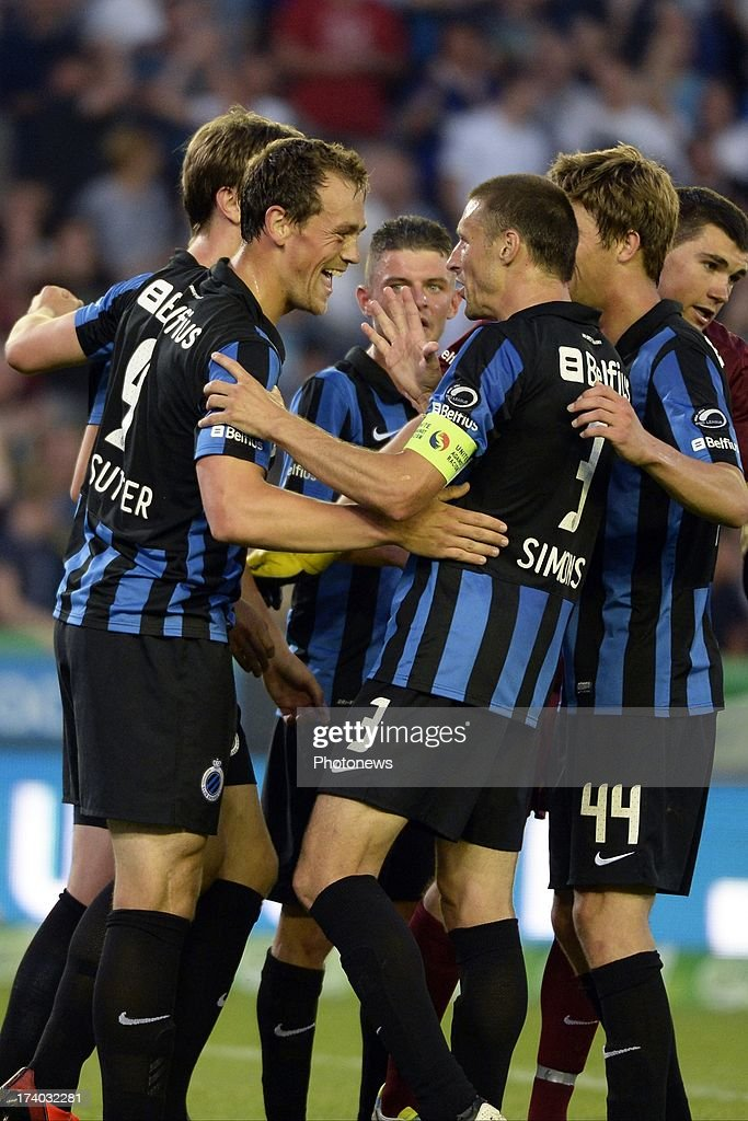 Tom De Sutter of Club Brugge K.V. reacts during the friendly match between Club Brugge K.V. and Wolfsburg on July 19, 2013 in Bruges, Belgium.