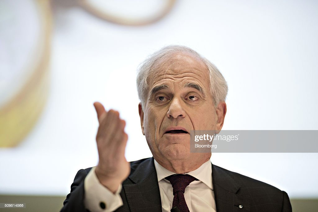 Tom de Swaan, chairman and interim chief executive officer of Zurich Insurance Group AG, gestures as he speaks during the company's full year results news conference in Zurich, Switzerland, on Thursday, Feb. 11, 2016. Zurich Insurance reported a worse-than-expected loss in the fourth quarter as the company makes plans to turn around its unprofitable general insurance unit. Photographer: Michele Limina/Bloomberg via Getty Images Tom de Swaan