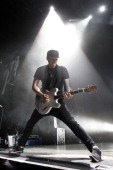 Tom DeLonge of the band Blink 182 performs live during a concert at the MaxSchmelingHalle on June 30 2012 in Berlin Germany