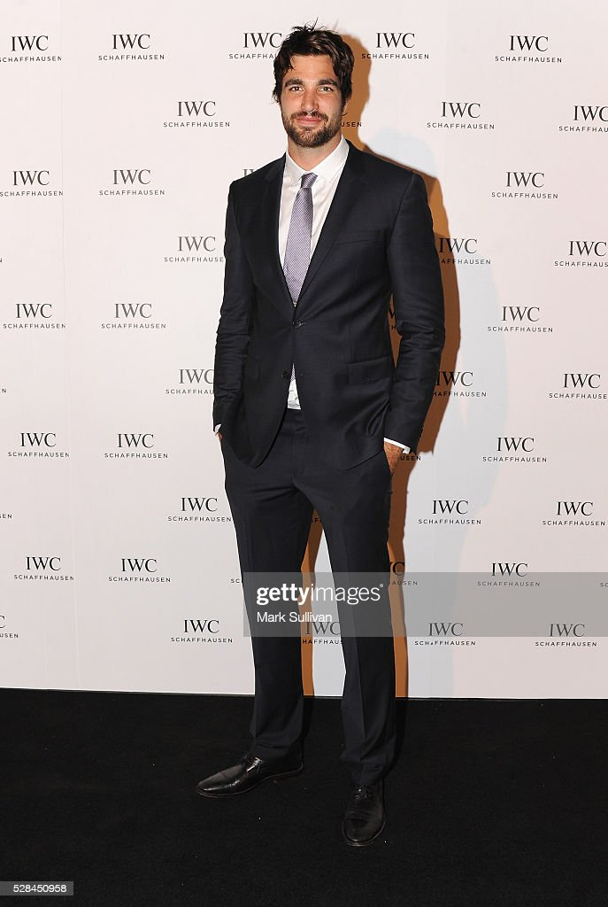 Tom Derickx attends the launch of IWC Schaffhausen's pilots watch launch at Sydney Theatre Company on May 5, 2016 in Sydney, Australia.
