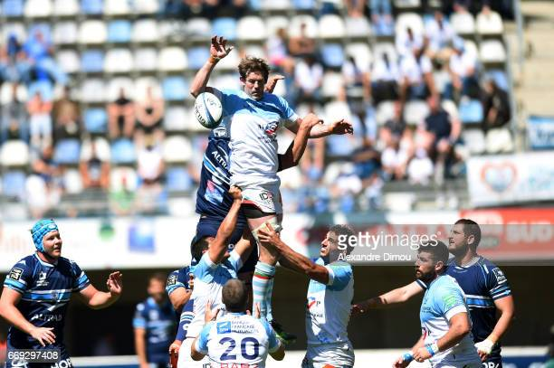 Tom Donnelly of Bayonne during the Top 14 match between Montpellier and Bayonne on April 16 2017 in Montpellier France