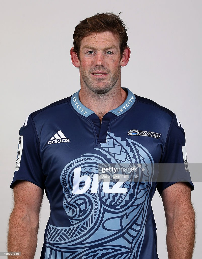 Tom Donnelly poses during a Blues Super Rugby headshots session on January 29, 2014 in Auckland, New Zealand.