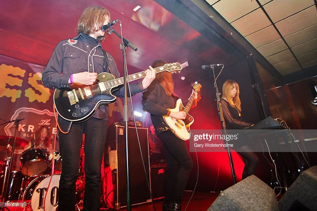 Tom Dougall and Maxim Barron of Toy perform on stage on Day 2 of Detestival 2013 at Queens Social Club on March 31, 2013 in Sheffield, England.
