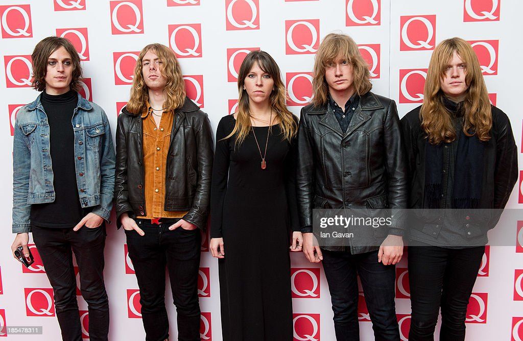 Tom Dougall, Dominic O'Dair, Maxim Barron, Charlie Salvidge and Alejandra Diez of 'TOY' attend The Q Awards at The Grosvenor House Hotel on October 21, 2013 in London, England.