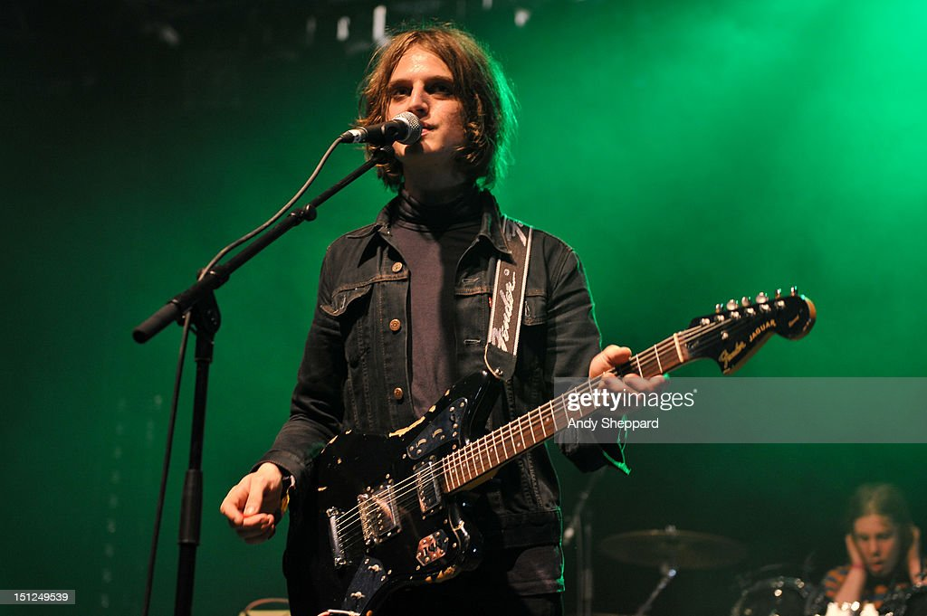 Tom Dougall of the band Toy performs on stage during End Of The Road Festival 2012 at Larmer Tree Gardens on September 1, 2012 in Salisbury, United Kingdom.