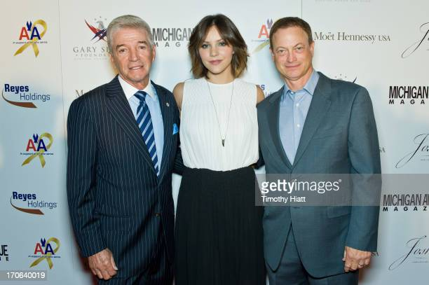 Tom Dreesen Katharine McPhee and Gary Sinise attend The Gary Sinise Foundation 'Inspiration To Action' Benefit Dinner at The Montgomery Club By...