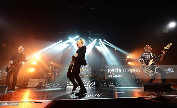 Tom Dumont Gwen Stefani Adrian Young and Tony Kanal of No Doubt in concert at Frankfurt Music Week World Stage at Capital Club on November 9 2012 in...