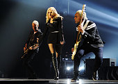Tom Dumont Gwen Stefani and Tony Kanal of No Doubt perform onstage during the MTV EMA's 2012 at Festhalle Frankfurt on November 11 2012 in Frankfurt...