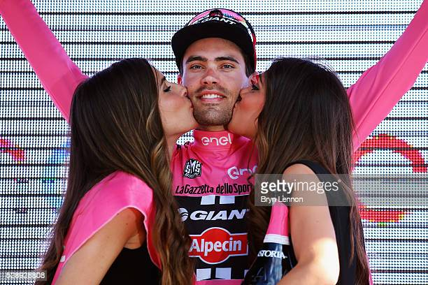 Tom Dumoulin of The Netherlands and Team Giant Aplecin retained his race leaders pink jersey on stage two of the 2016 Giro d'Italia a 190km stage...