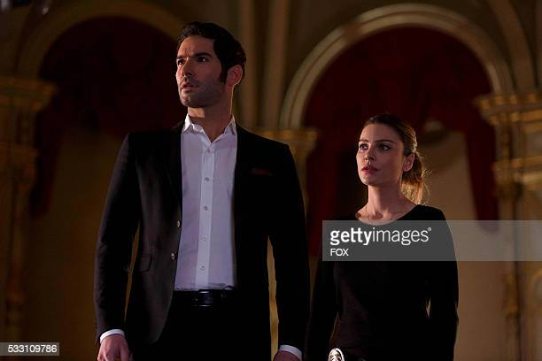 Tom Ellis and Lauren German in the '#TeamLucifer' episode of LUCIFER airing Monday April 18 on FOX