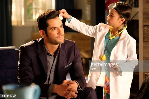 Tom Ellis and Scarlett Estevez in the The Good the Bad and the Crispy season finale episode of LUCIFER airing Monday May 29 on FOX