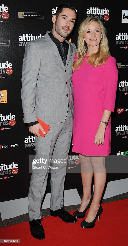Tom Ellis and Tamsin Outhwaite attend the Attitude Magazine Awards at One Mayfair on October 16, 2012 in London, England.