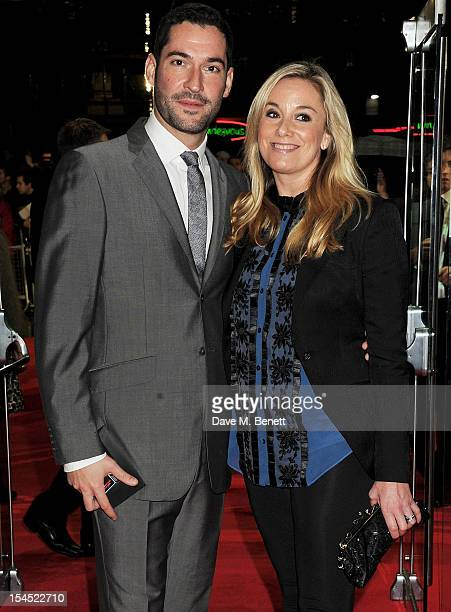 Tom Ellis and Tamzin Outhwaite attend the Gala Premiere of 'Great Expectations' which closes the 56th BFI London Film Festival at Odeon Leicester...