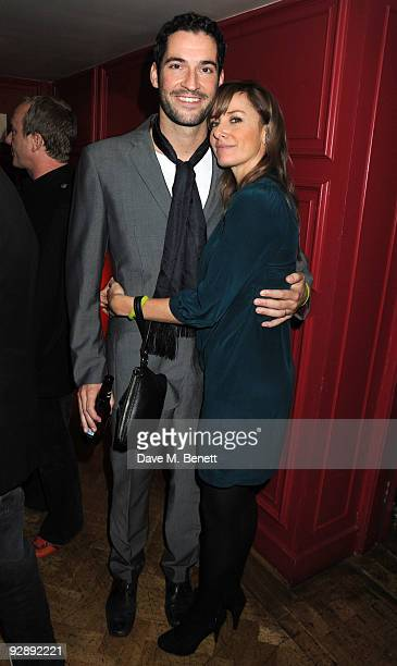 Tom Ellis and Tamzin Outhwaite attend the launch of Liam Gallaghers clothing line Pretty Green at the Gore Hotel on November 7 2009 in London England