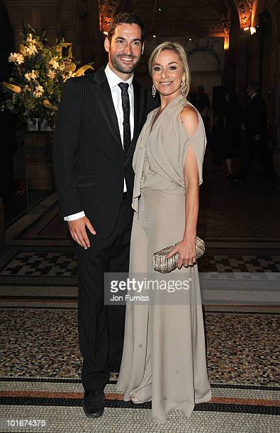 Tom Ellis and Tamzin Outhwaite attend the Philips British Academy Television Awards after party at the Natural History Museum on June 6 2010 in...