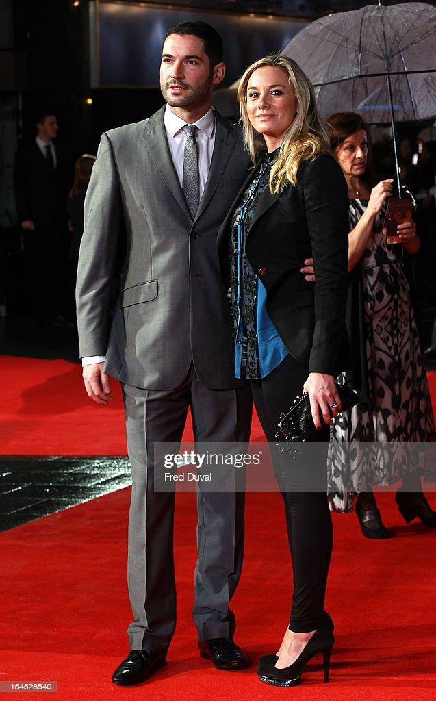 Tom Ellis and <a gi-track='captionPersonalityLinkClicked' href=/galleries/search?phrase=Tamzin+Outhwaite&family=editorial&specificpeople=203115 ng-click='$event.stopPropagation()'>Tamzin Outhwaite</a> attend the premiere of 'Great Expectations' which closes the 56th BFI London Film Festival at Odeon Leicester Square on October 21, 2012 in London, England.