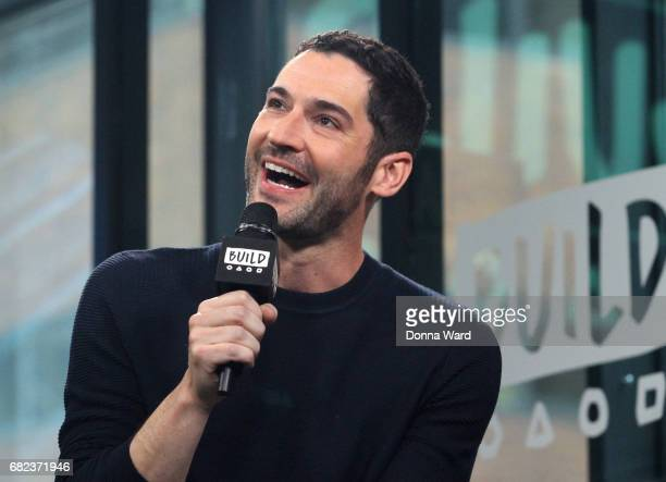 Tom Ellis appears to promote 'Lucifer' during the BUILD Series at Build Studio on May 12 2017 in New York City