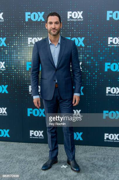 Tom Ellis attends the 2017 FOX Upfront at Wollman Rink Central Park on May 15 2017 in New York City