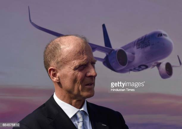 Tom Enders chief executive officer of Airbus Group NV attends the groundbreaking ceremony for the Airbus India Training Centre on March 17 2017 in...