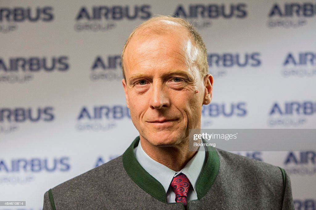 Tom Enders, chief executive officer of Airbus Group NV, poses for a photograph during the Airbus annual news conference in Munich, Germany, on Friday. Feb. 27, 2015. Airbus plans to boost production of its workhorse A320 single-aisle aircraft to 50 a month to meet surging demand for more fuel-efficient airliners. Photographer: Martin Leissl/Bloomberg via Getty Images