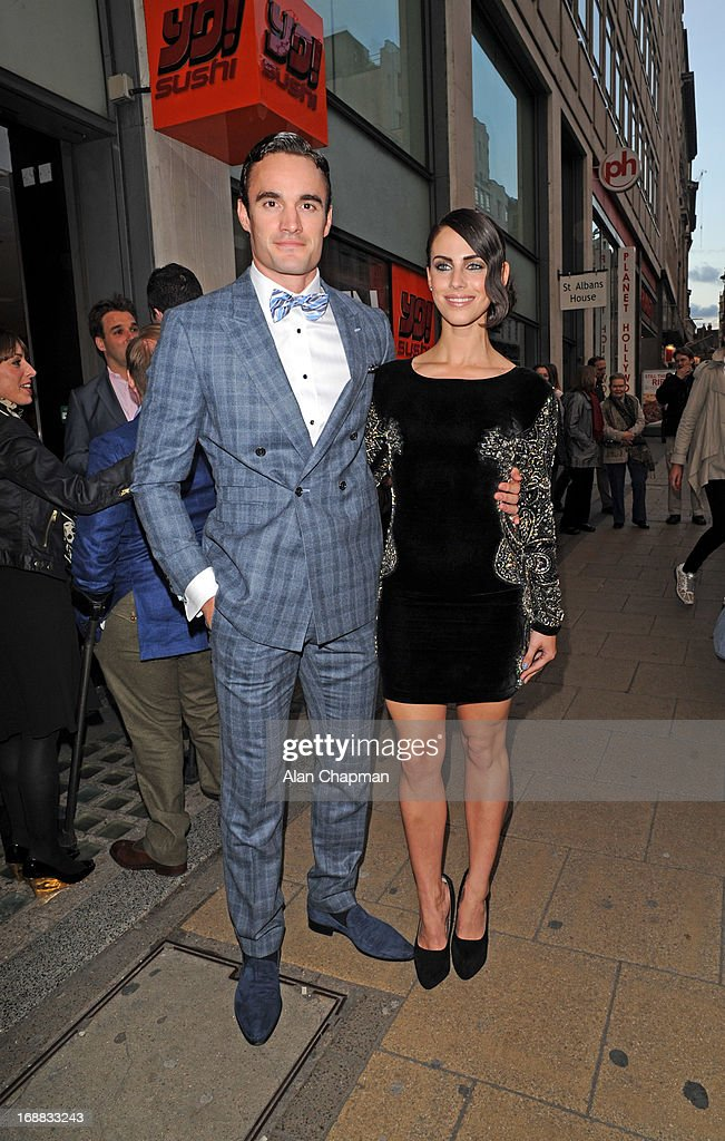 Tom Evans and <a gi-track='captionPersonalityLinkClicked' href=/galleries/search?phrase=Jessica+Lowndes&family=editorial&specificpeople=3960270 ng-click='$event.stopPropagation()'>Jessica Lowndes</a> sighting arriving at Cineworld Haymarket for screening of The Great Gatsby on May 15, 2013 in London, England.