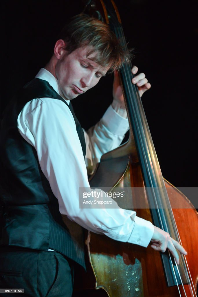 Tom Farmer of the band Empirical performs on stage at Pizza Express Jazz Club on February 4, 2013 in London, England.