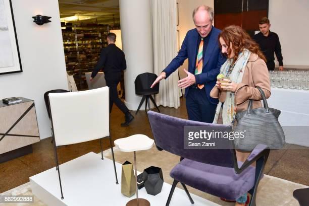Tom Faulkner and Lisa Natt attend Tom Faulkner at Angela Brown Ltd on October 18 2017 in New York City