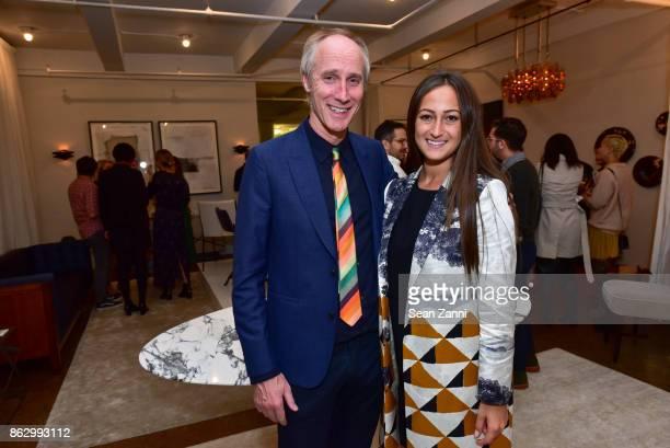 Tom Faulkner and Rachel Simone attend Tom Faulkner at Angela Brown Ltd on October 18 2017 in New York City
