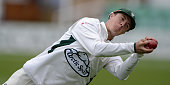 Tom Fell of Worcestershire catches out Martin Guptill of New Zealand during day four of the tour match between Worcestershire and New Zealand at New...