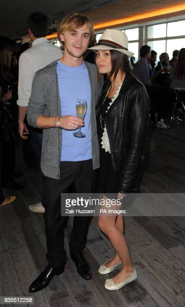 Tom Felton and girlfriend Jade olivia during Empire magazine's 20th Birthday Party and Charity Auction at the Paramount Club in Centrepoint central...
