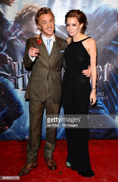 Tom Felton and Jade Olivia arriving for the World Premiere of Harry Potter and The Deathly Hallows Part One at the Odeon West End Leicester Square...