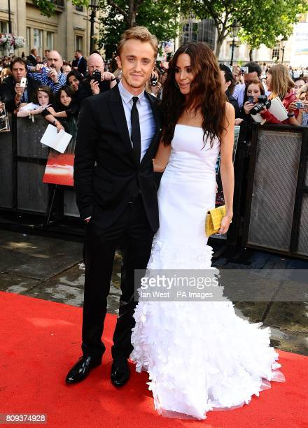 Tom Felton and Jade Olivia arriving for the world premiere of Harry Potter And The Deathly Hallows Part 2