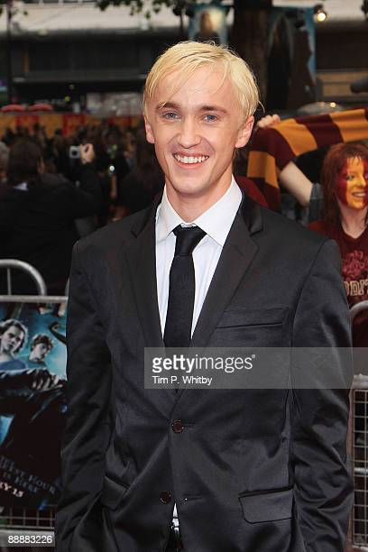 Tom Felton arrives for the World Premiere of Harry Potter And The Half Blood Prince at Empire Leicester Square on July 7 2009 in London England