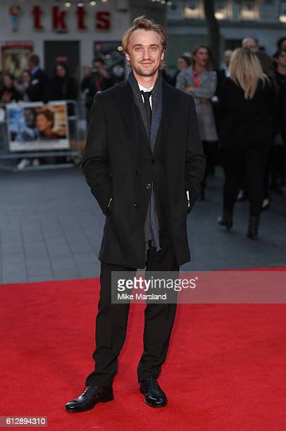 Tom Felton attends the 'A United Kingdom' Opening Night Gala screening during the 60th BFI London Film Festival at Odeon Leicester Square on October...