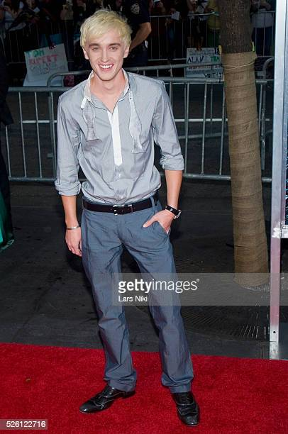 Tom Felton attends the 'Harry Potter and the HalfBlood Prince Film Premiere' at the Ziegfeld Theatre in New York City